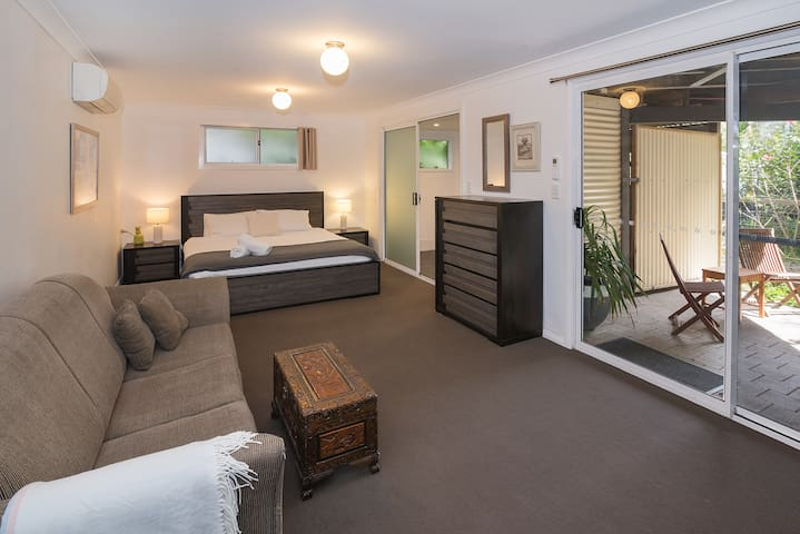 Private fourth bedroom suite, has a king size bed and it's own ensuite.