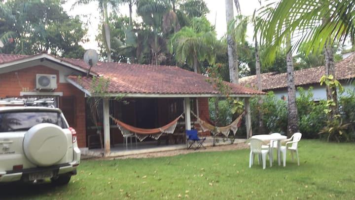 Casa com ar condicionado na praia de Itamambuca