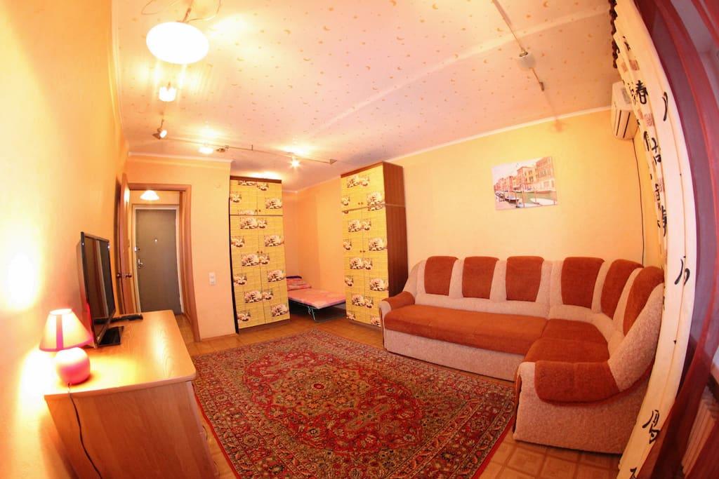 Комфортные спальные места. Вся необходимая бытовая техника для комфортного проживания (LED TV, кондиционер), постельное белье