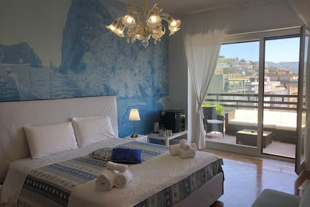 First suite with a private seaview terrace.
