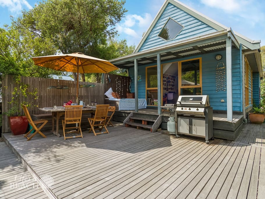 Decking area for Bbqs and entertaining