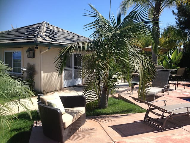 Guest house with lovely 1/2 acre property.