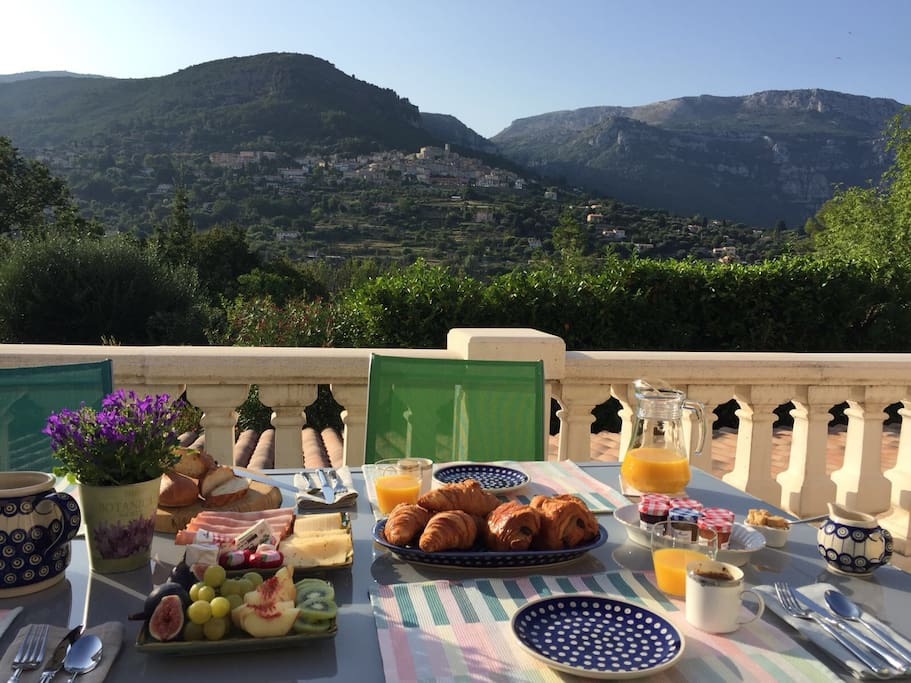 Breakfast on the main terrace