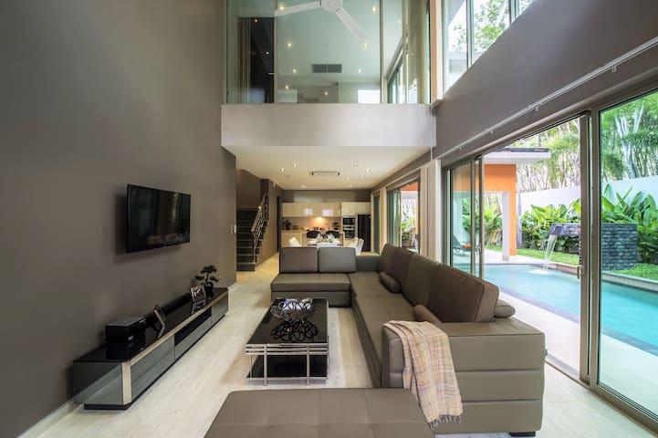 Phuket vip villa10-Modern villa near Bangtao beach - Tambon Choeng Thale - Villa