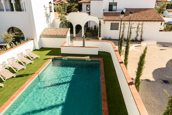 BIARRITZ plage 200m - Maison 2ch/4 pers. piscine