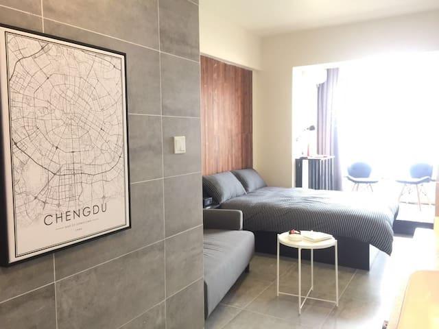 [浮生]近市中心\太古里\宽窄巷子\春熙路\地铁直达\高层河景\全新房 - 成都市 - Appartement en résidence