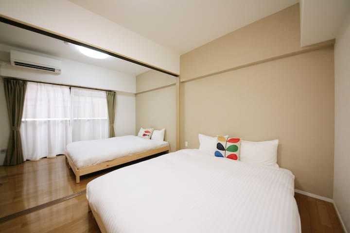 ★TOHO HOTEL TENJIN1|Free WiFi|Up to 6 guests【2-D】