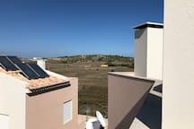 View from roof terrace onto Burgau fields