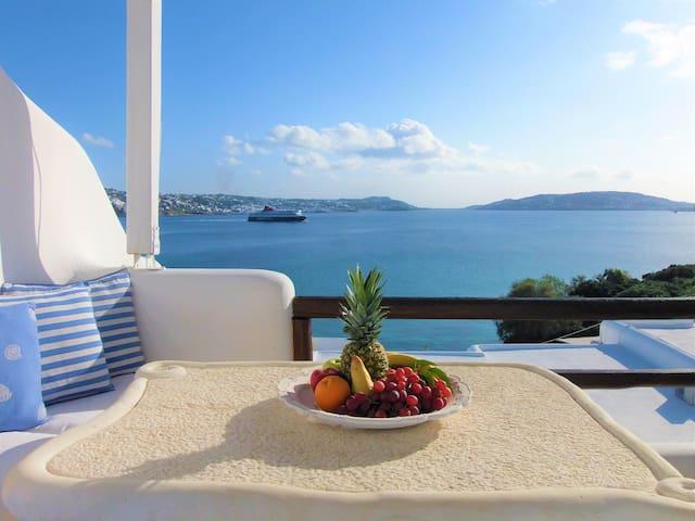 Beach Villa ELENI ! Amazing view!Superb location!