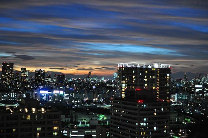 Your cozy home near Shinagawa high level city view - Minato-ku - Kondominium