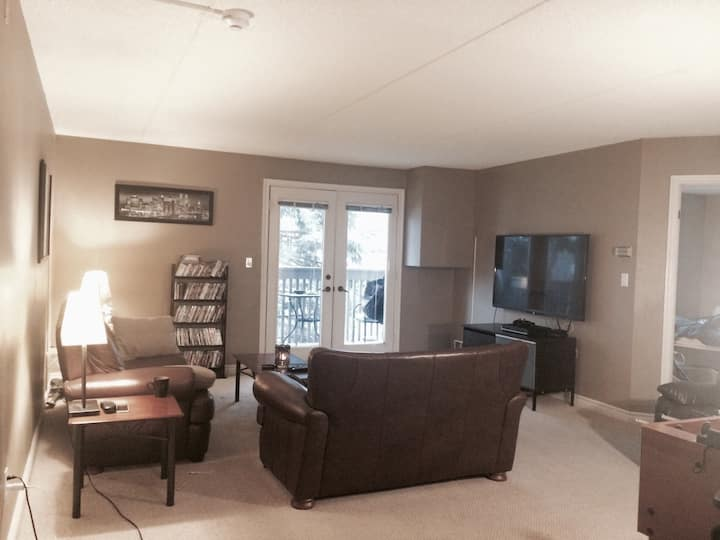1100 sq ft. condo in forested area
