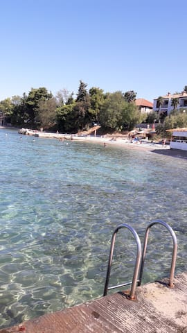 Clear sea, 50 meters from the apartment