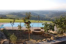The panoramic pool and view beyond