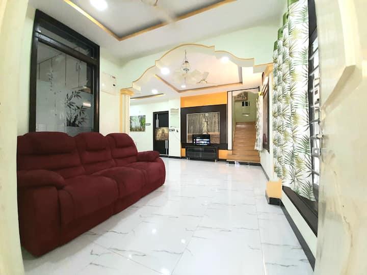 Entire 3 Bhk Duplex house with terrace garden.