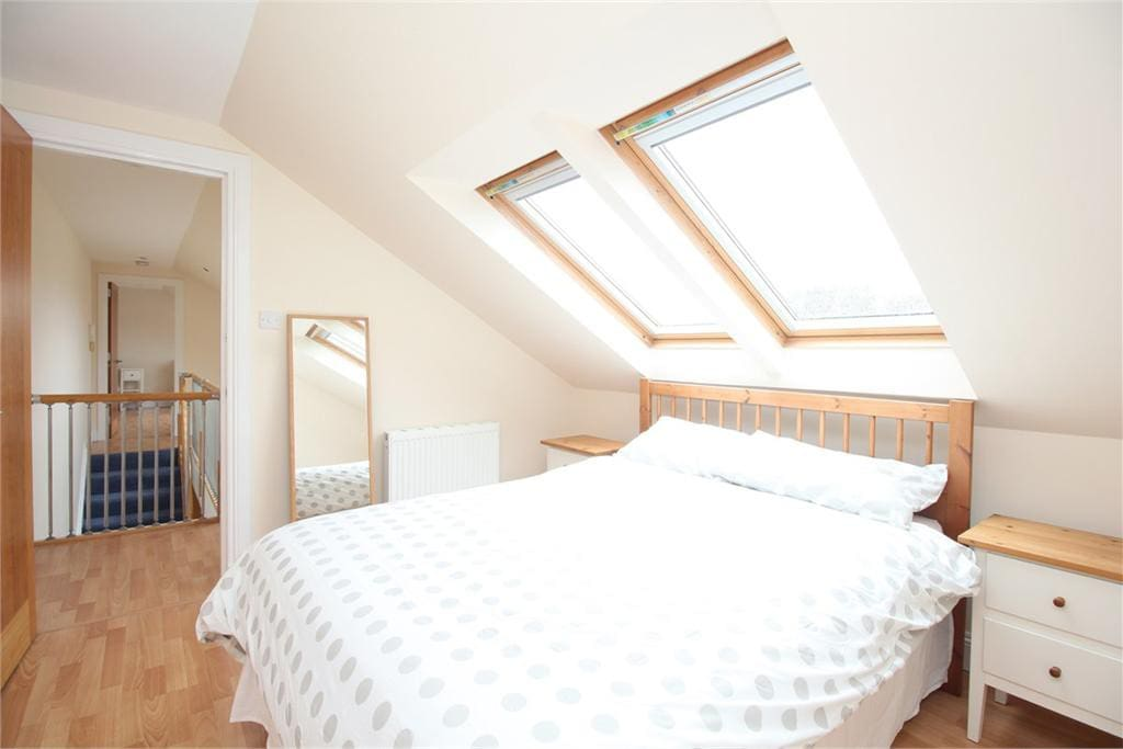 Upstairs Double Bedroom view 1 - velux black out blinds