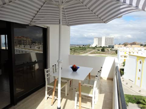 Balcony with view of Vilamoura beach