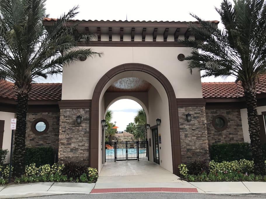 Amenities entrance