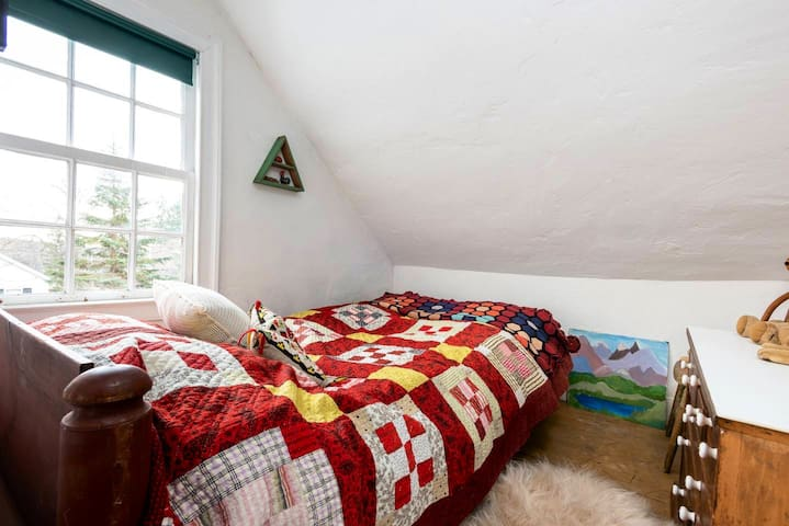 """""""Gustav's Room"""", named after Jenny's youngest Norwegian son, is tiny but sweet."""