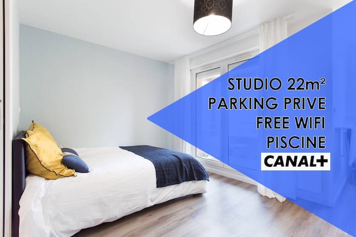 ★ Studio Contemporain Parking privé MÉTÉO France★