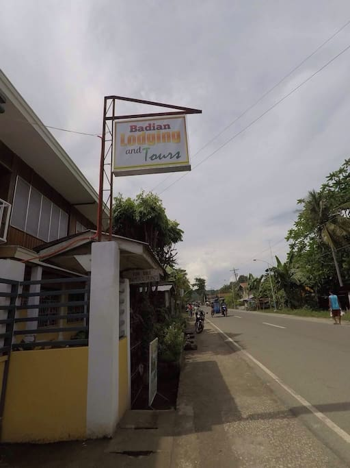 signage from road view side coming from Cebu city