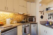 Granite counter and premium appliances