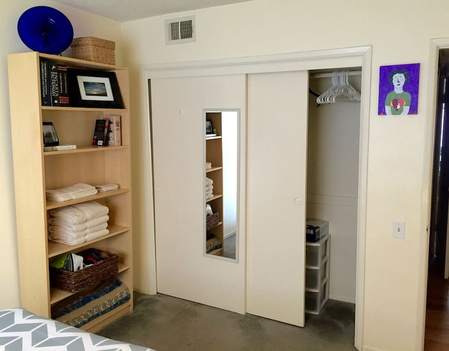 Fresh Towels, And A Closet For Storage
