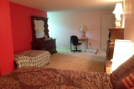 Spacious living space, private room, full bath - Cincinnati - Haus