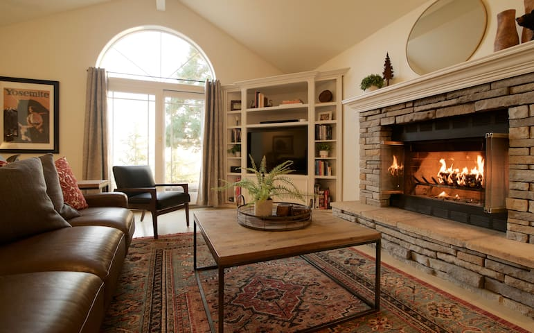 Cozy up next to the fire and grab a book or your choice of board games
