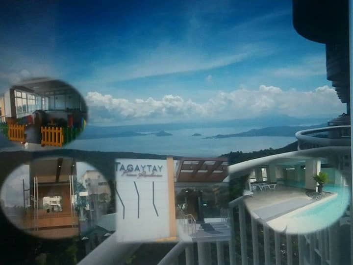 Tagaytay Suite 1749 - Overlooking Taal (Wifi,Pool)