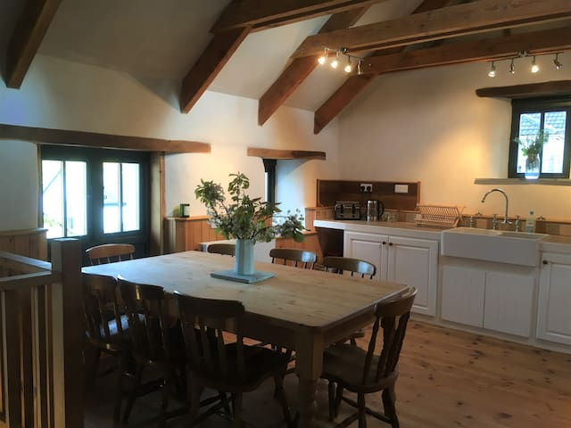 Gorgeous eco-converted barns on an organic farm