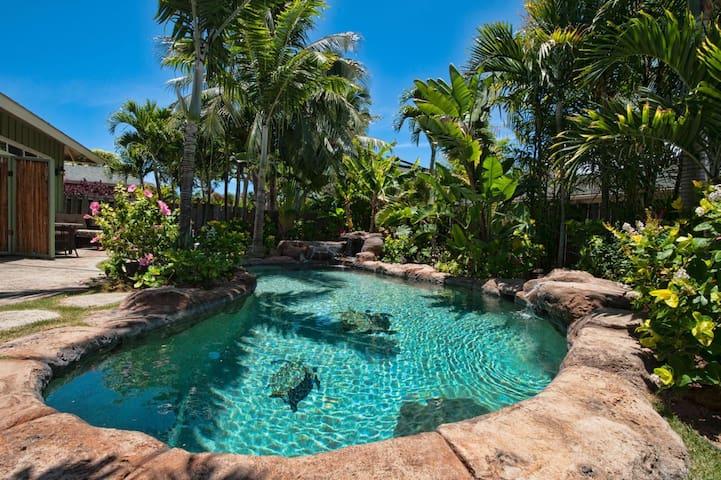 Tropical unit pool/spa walk to Kailua Beach A/C