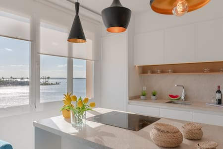 First Line: Modern apartment with great views!
