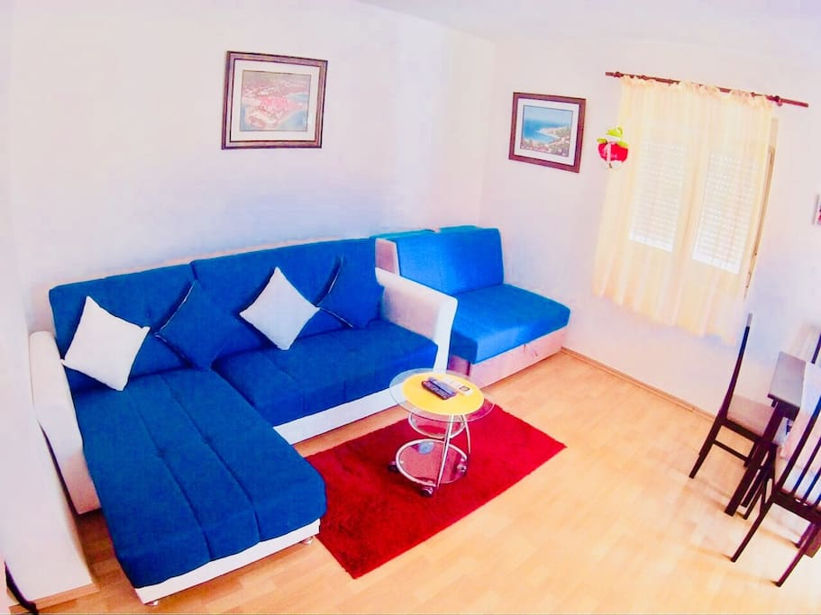 Two folding sofa in living room