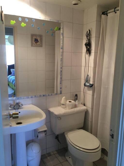 baño personal, secador pelo, exclusivo para el huesped