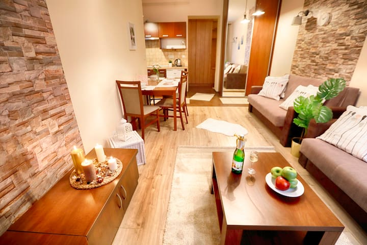Bright apartment at the Old town.józ