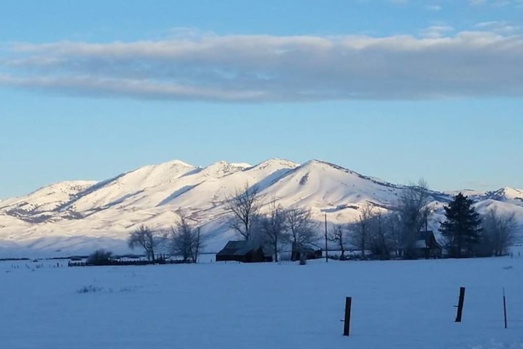 Soldier Mountain in the winter - we are right at the base