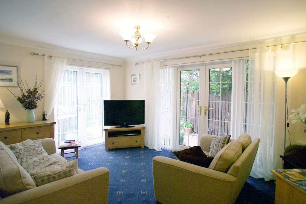 Living room with HD TV and SKYPlus Movies and DVD Player
