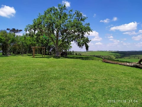 Casa de campo na fazenda