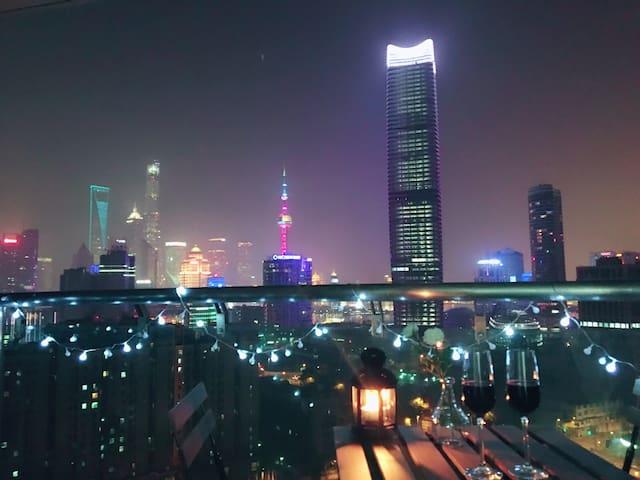 【The Bund&近南京路&双地铁】落地窗江景公寓105平两室整套 - Shanghai - Lägenhet