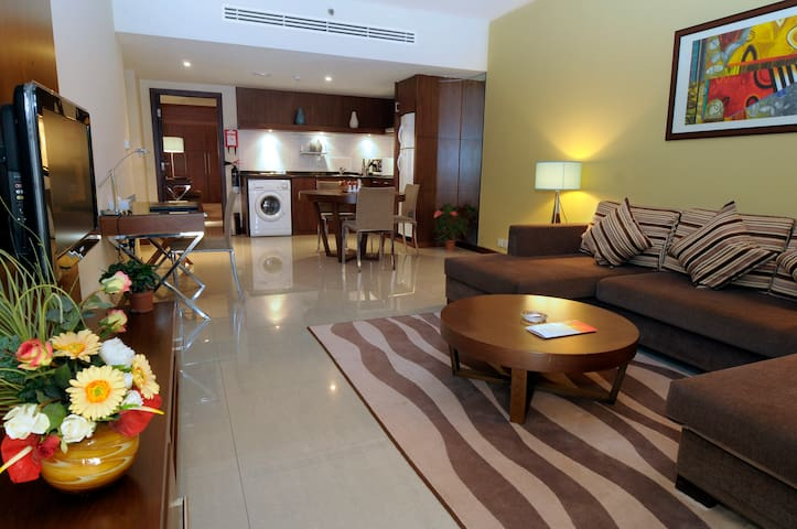 Fully Furnished One Bedroom with Living Area