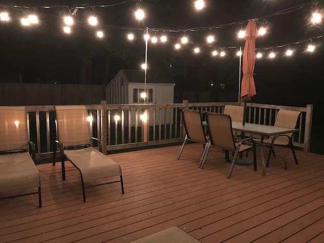 Rear Deck at Night