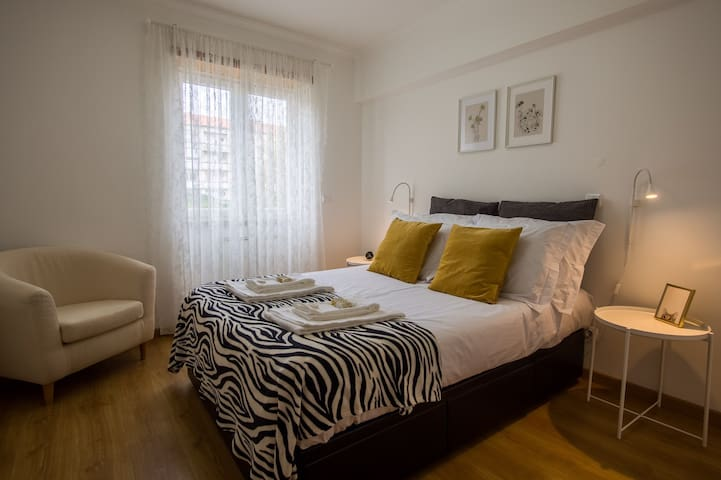 Spacious double bedroom with very comfortable bed and quality linen.