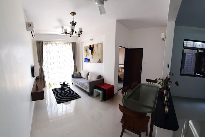 Cozy 1 BHK Apartment in Varsoli Alibag