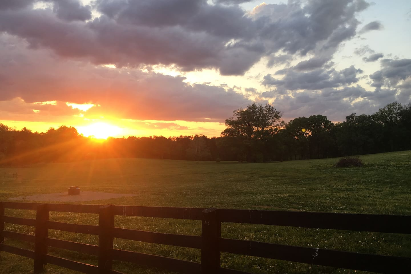 """Sunset from the """"porch"""""""