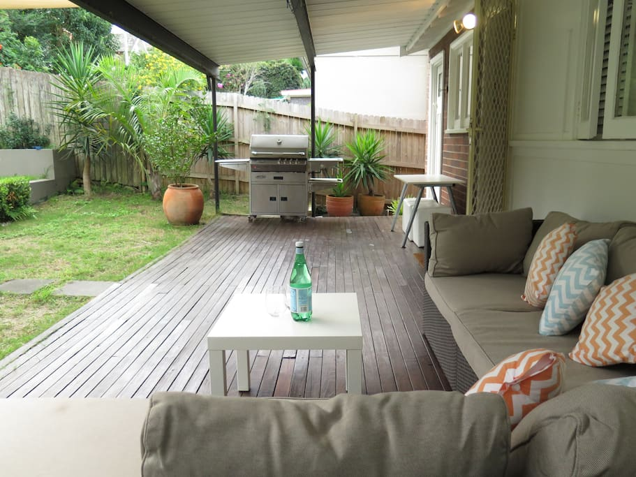 Back deck lounge.
