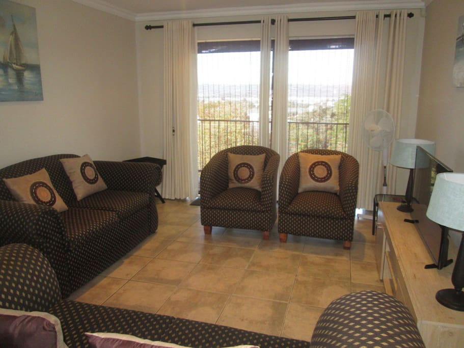 Lounge with balcony & views