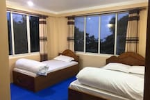 Spacious Bed Rooms with attached bathrooms