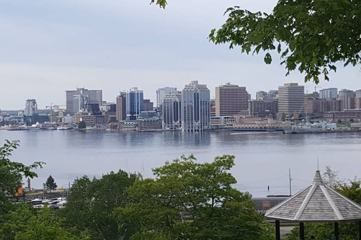 View of Halifax Harbour 4 minute walk from Ferry Run Too! and Ferry Run. We have 2 side by side units available. Ferry Run Too! is our 2 bedroom unit (Ferry Run next door is a 3 bedroom unit)