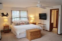 Master suite with king bed and second bath