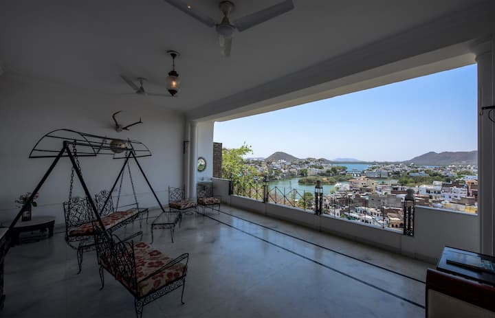 Two Rooms With Panoramic View From Lavish Balcony